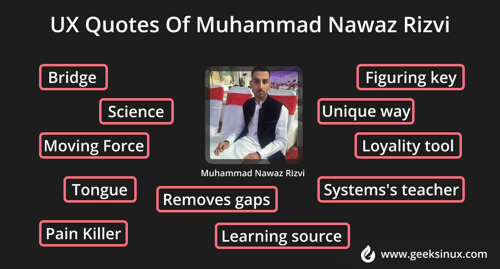 UX Quotes by Muhammad Nawaz Rizvi